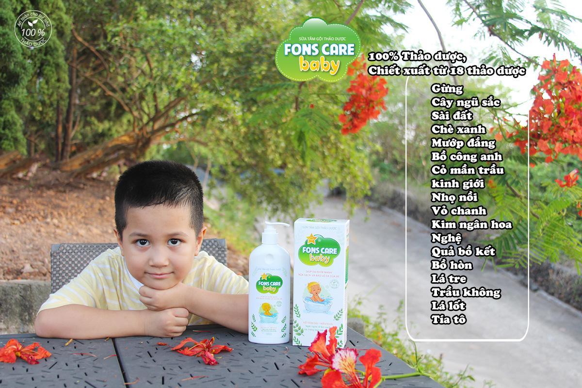 Sữa tắm gội Thảo dược Fons Care Baby - 100% Thảo dược