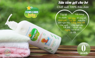 Bé bị rôm sảy dùng Sữa tắm gội Fons care baby được không?