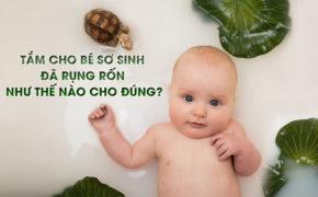 Cách tắm cho trẻ sơ sinh đã rụng rốn – vừa nhanh sạch, lại an toàn